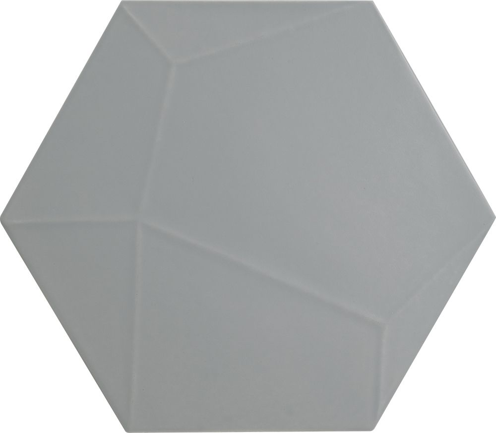 Tagina Details Grey Hex Matt Veins Настенная плитка